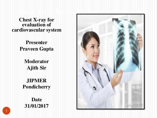 Chest X-ray for evaluation of cardiovascular system Presenter Praveen Gupta Moderator Ajith Sir JIPMER Pondicherry Date 31...