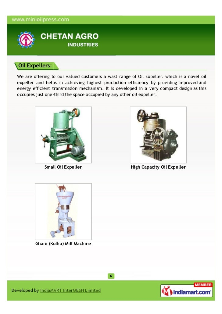 Oil Expellers:We are offering to our valued customers a wast range of Oil Expeller. which is a novel oilexpeller and helps...