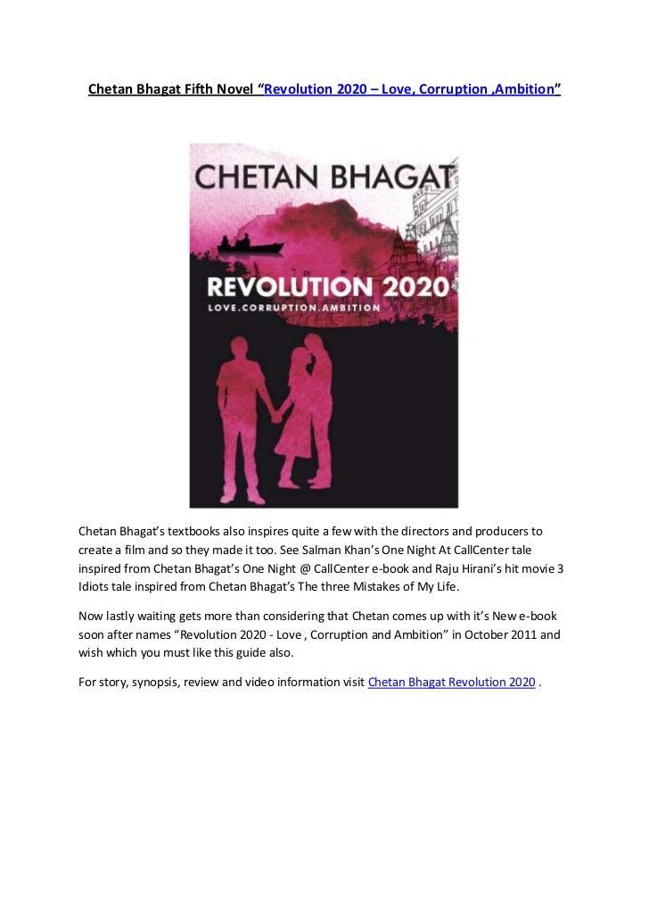 Chetan Bhagat Revolution 2020 Love Corruption Ambition Fifth Novel