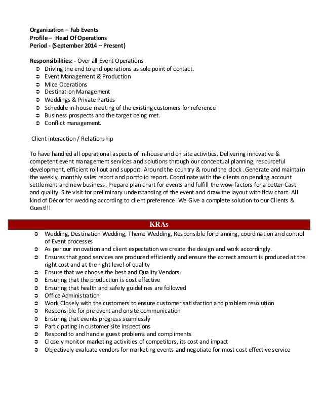 Fancy Destination Management Resume Vignette - Administrative ...