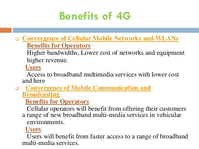 4g communication networks 4g is the fourth generation of mobile phone communications standards it is a successor of the 3g and provides ultra-broadband internet access for mobile devices.