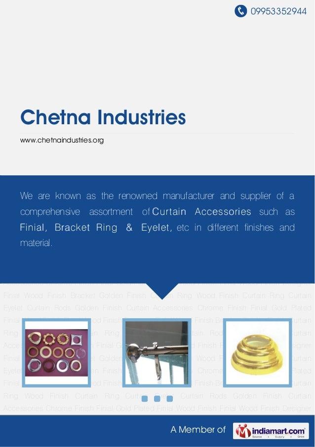 09953352944     Chetna Industries     www.chetnaindustries.orgCurtain Eyelet Curtain Rods Golden Finish Curtain Accessorie...