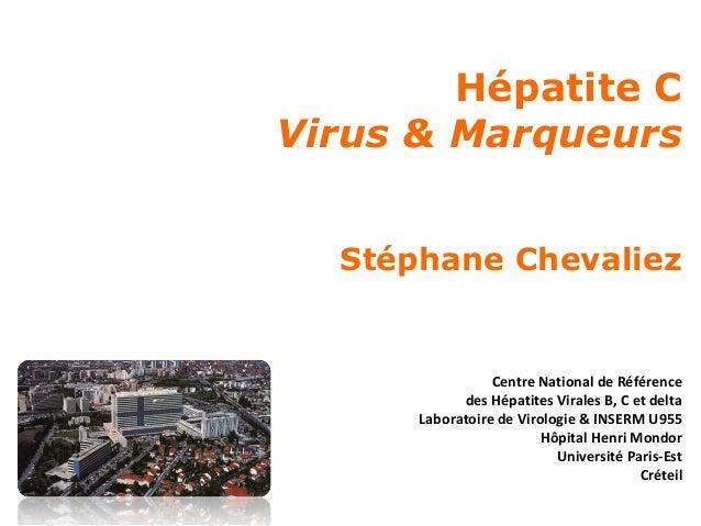Hépatite C Virus & Marqueurs Stéphane Chevaliez  Centre National de Référence des Hépatites Virales B, C et delta Laborato...