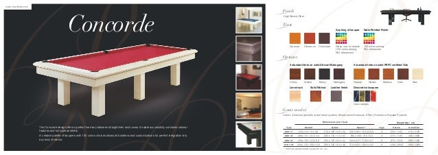 Billiard Table Catalogue From Chevillotte Download Catalogue
