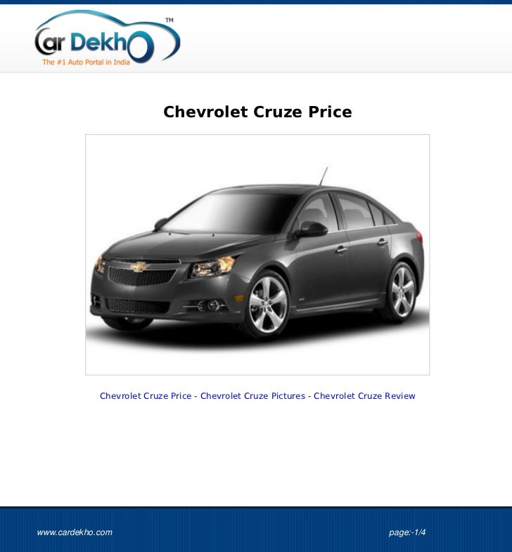 Chevrolet Cruze Price             Chevrolet Cruze Price - Chevrolet Cruze Pictures - Chevrolet Cruze Reviewwww.cardekho.co...