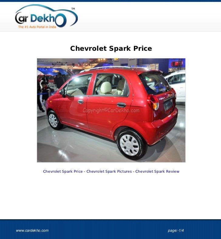 Chevrolet Spark Price             Chevrolet Spark Price - Chevrolet Spark Pictures - Chevrolet Spark Reviewwww.cardekho.co...