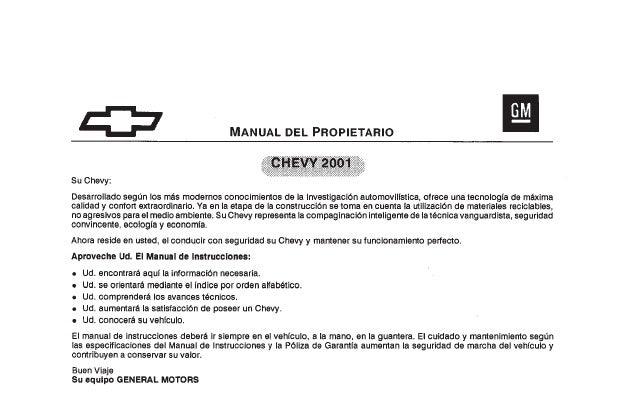 chevrolet corsa linea vieja manual del usuario 120pag esp rh slideshare net manual de chevrolet s10 2005 gratis Chevy Manual Transmission