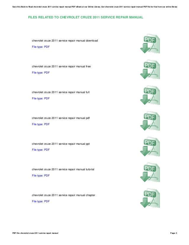 2011 chevy cruze service manual pdf