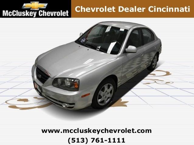 Chevrolet Dealer Cincinnatiwww.mccluskeychevrolet.com     (513) 761-1111