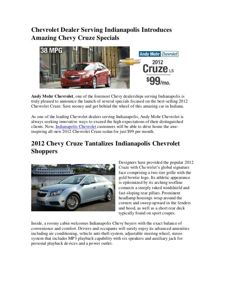 Chevrolet Dealer Serving Indianapolis Introduces Amazing ...