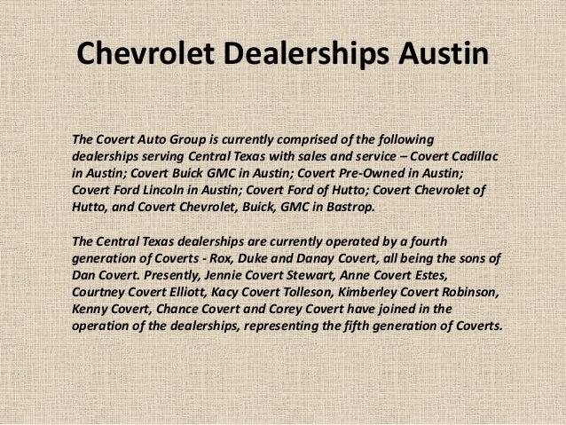 Covert Gmc Austin >> Chevrolet dealerships austin