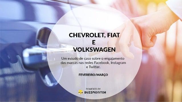 Objetivo: Descobrir qual rede social gera mais engajamento para o mesmo conteúdo das marcas. Páginas monitoradas: Chevrole...