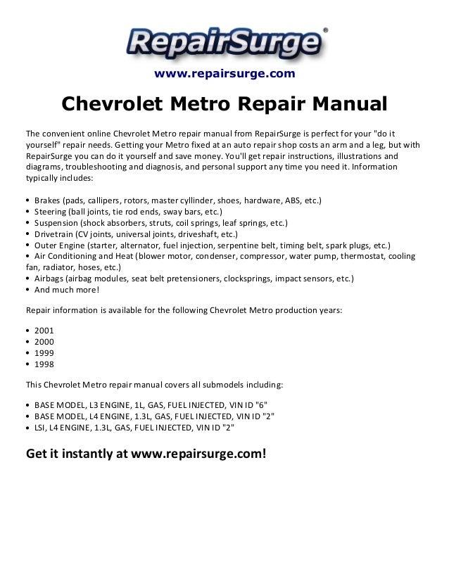 chevrolet metro repair manual 19982001 1 638?cb=1415628068 chevrolet metro repair manual 1998 2001 GM Alternator Wiring Diagram at crackthecode.co