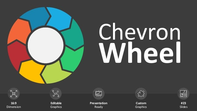Chevron Wheel 16:9 Dimension Editable Graphics Presentation Ready Custom Graphics #23 Slides You can use this space for yo...