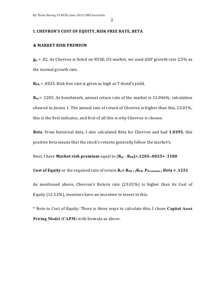 Chevron corp   company evaluation Slide 2