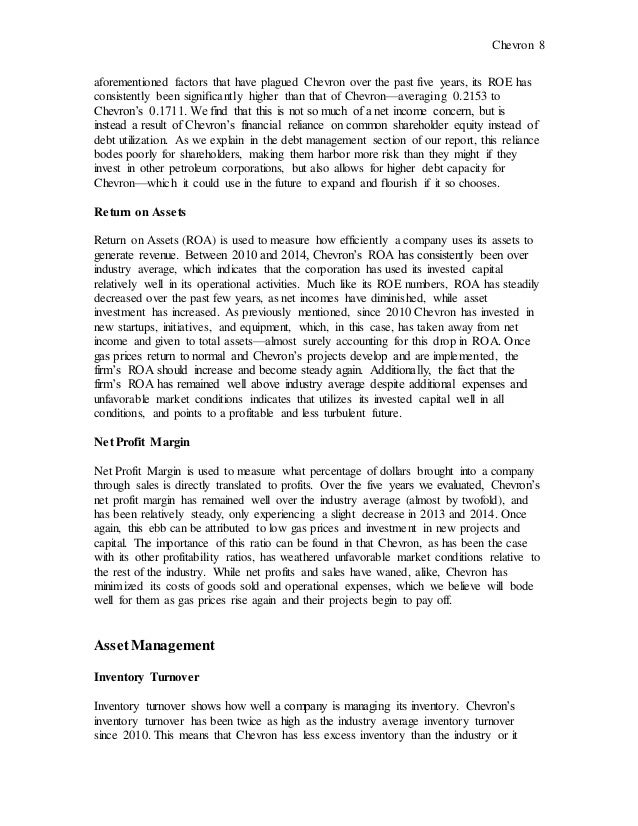 chevron strategic business analysis  8