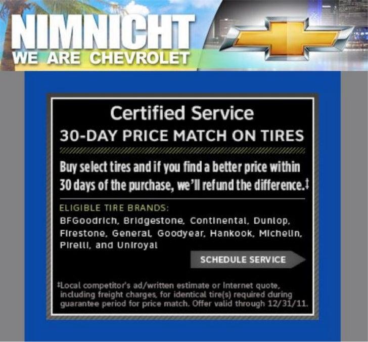 Chevy 30-Day Price Match on Tires FL | Jacksonville Chevrolet Dealer