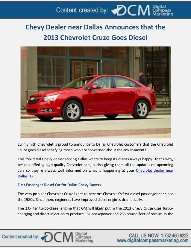 Chevy Dealership Dallas Tx >> Chevy Dealer Near Dallas Announces That The 2013 Chevrolet