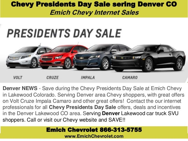 Chevy Presidents Day Sale to Denver Lakewood Colorado ...