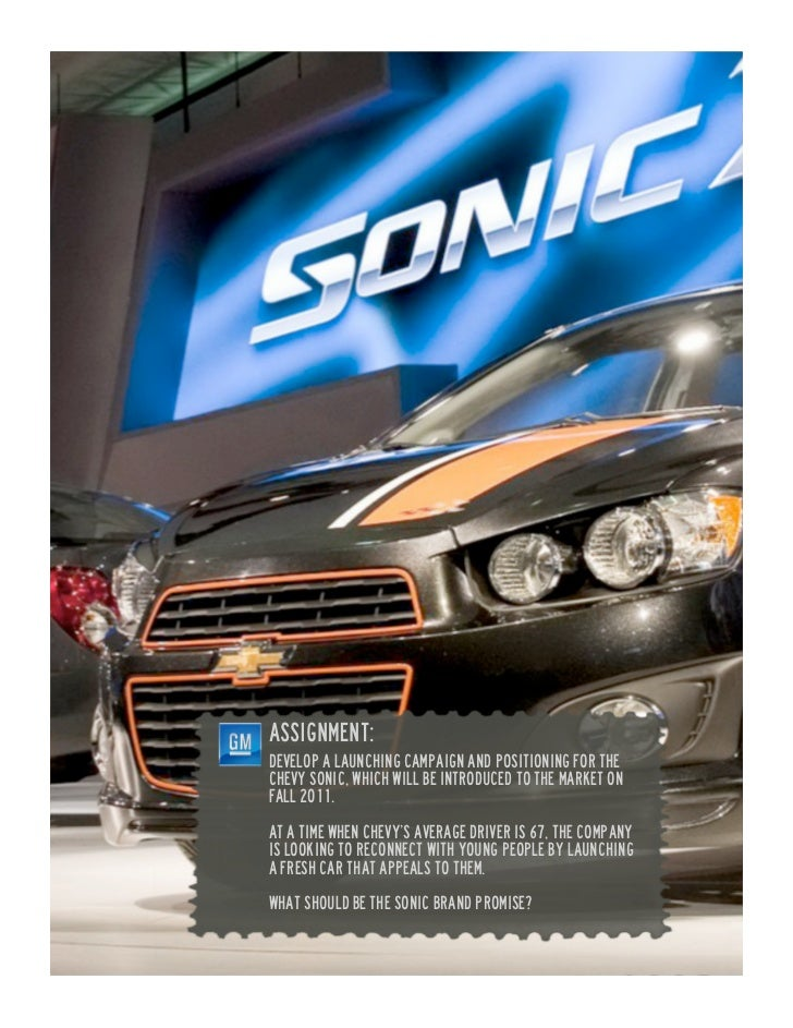 Chevy Sonic case study (Miami Ad School Planning Boot Camp)