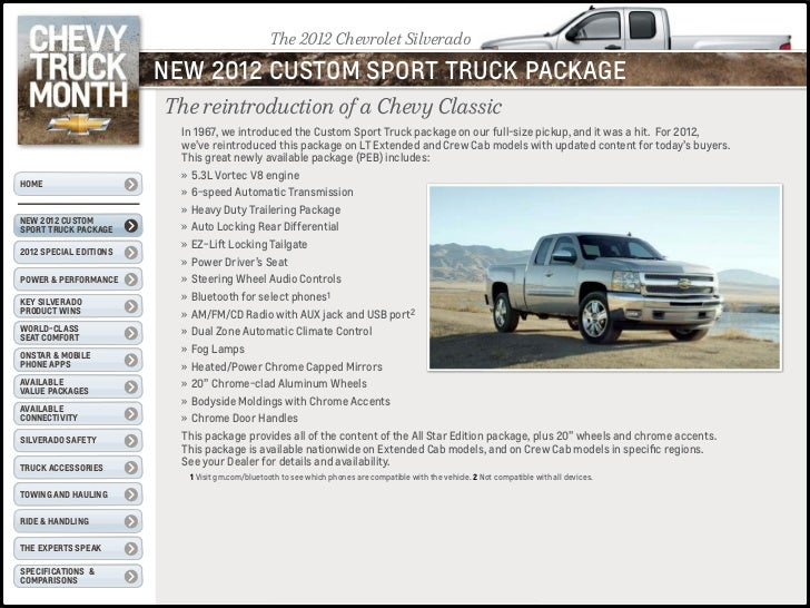 Chevy truck month product facts