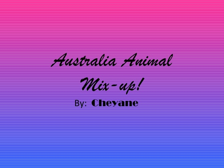 Australia Animal   Mix-up!  By: Cheyane