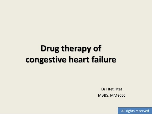 Dr Htet Htet MBBS, MMedSc Drug therapy of congestive heart failure All rights reserved