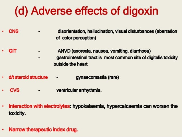Digoxin Side Effects Nhs