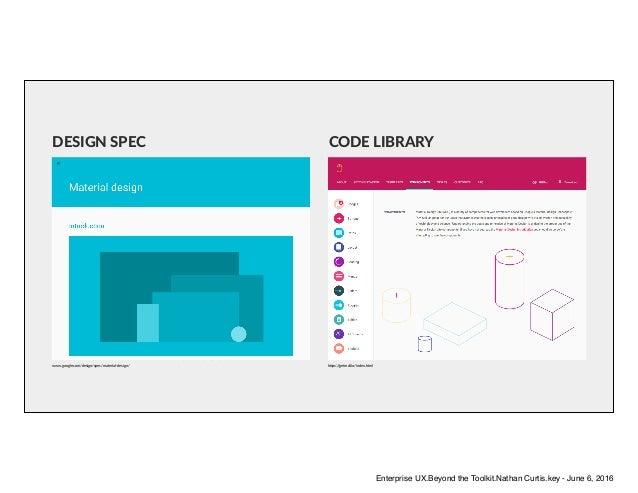 www.google.com/design/spec/material-design/ h6ps://getmdl.io/index.html DESIGN SPEC CODE LIBRARY Enterprise UX.Beyond the ...