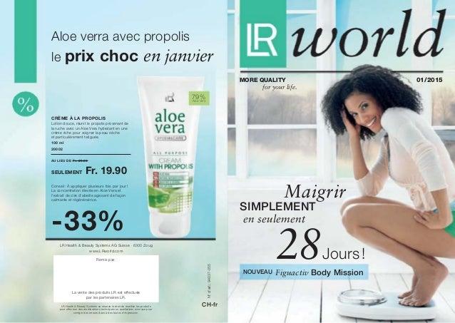 79% Aloe Vera N°d'art.:94037-055 CH-fr au lieu de Fr. 29.90 seulement Fr. 19.90 100 ml 20002 Crème à la propolis -33% LR...