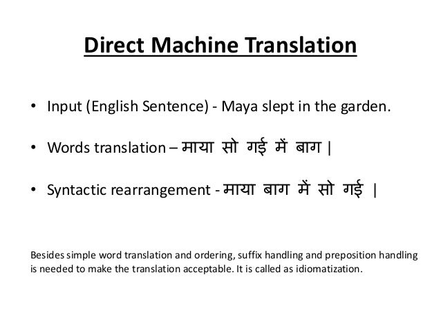 Machine Translation System: Chhattisgarhi to Hindi