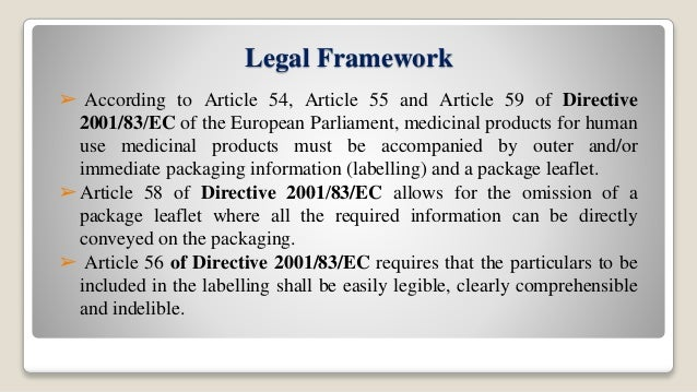 article 5 3 with directive 2001 83 ec
