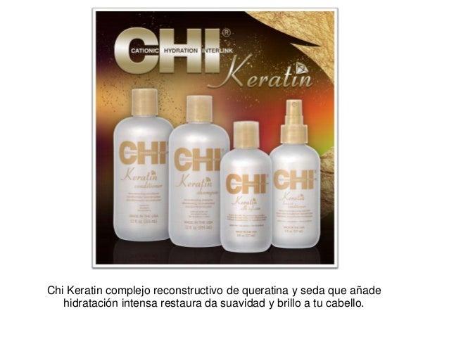 Chi Keratin complejo reconstructivo de queratina y seda que añade hidratación intensa restaura da suavidad y brillo a tu c...