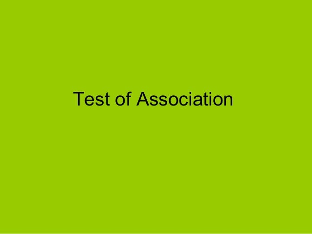Test of Association