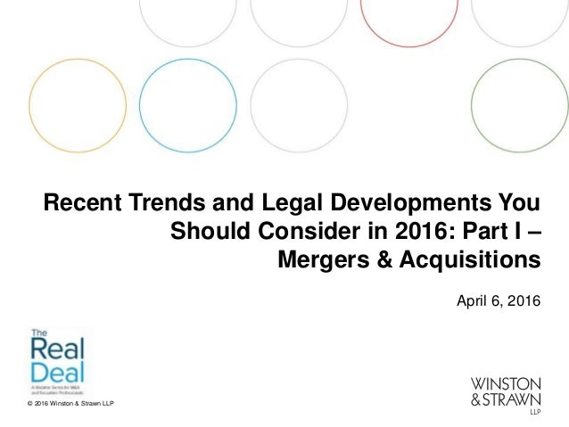 Recent Trends and Legal Developments You Should consider