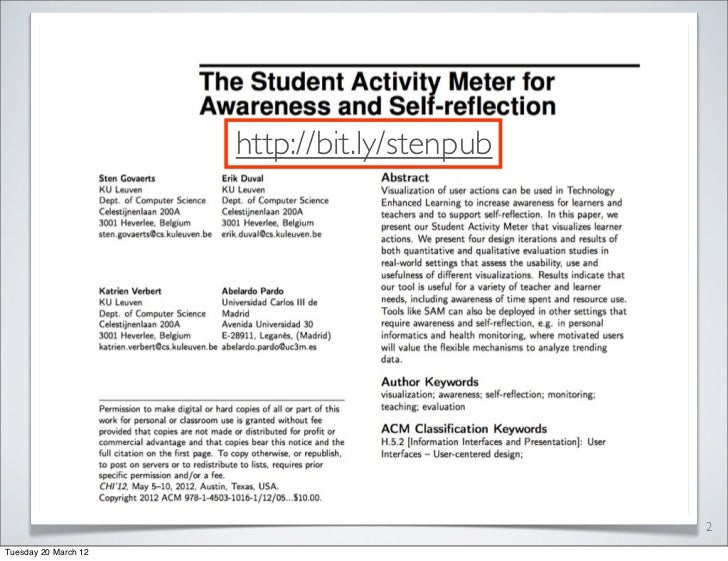 The Student Activity Meter for Awareness and Self-reflection Slide 2