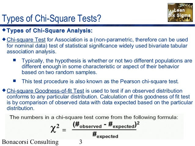 statistics chi square testing The chi square statistic compares the tallies or counts of categorical responses between two (or more) independent groups (note: chi square tests can only be used on actual numbers and not on percentages, proportions, means, etc.