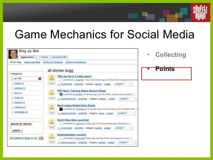 Game Mechanics for Social Media <ul><li>Collecting </li></ul><ul><li>Points </li></ul>