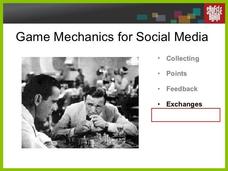 Game Mechanics for Social Media <ul><li>Collecting </li></ul><ul><li>Points </li></ul><ul><li>Feedback </li></ul><ul><li>E...