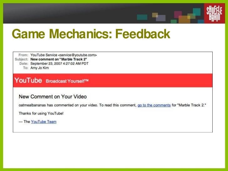 Game Mechanics: Feedback
