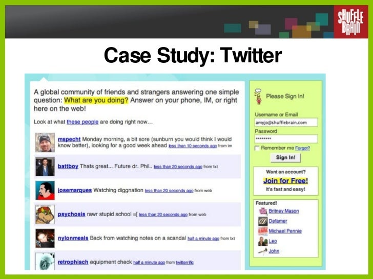 Case Study: Twitter