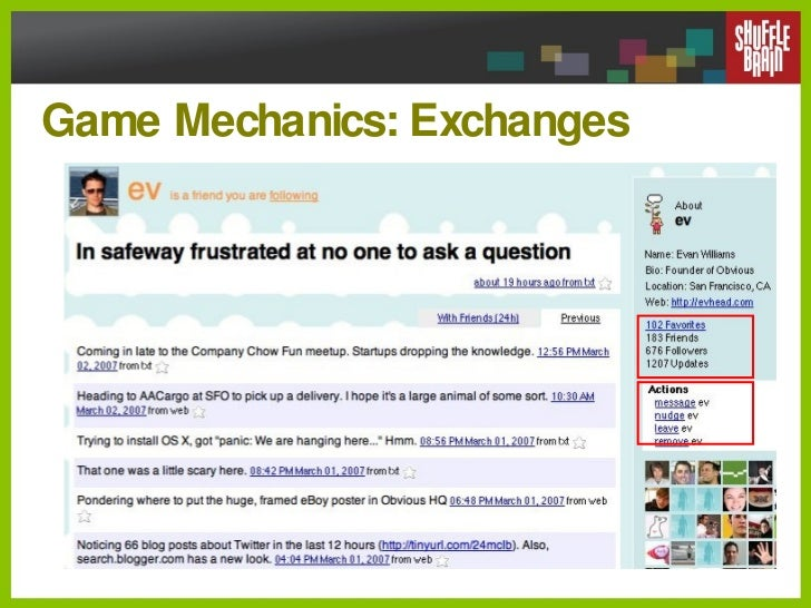 Game Mechanics: Exchanges