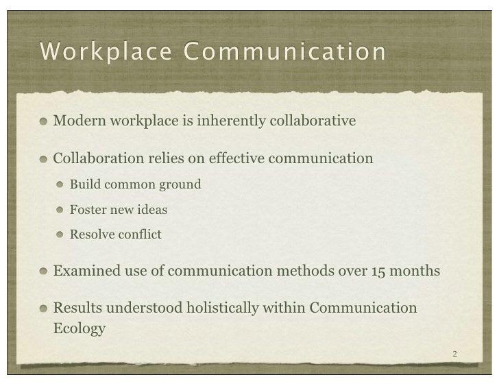 Communication Ecology Turner et al, CHI 2010 Slide 2