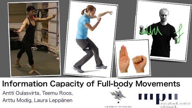 Antti Oulasvirta, Teemu Roos,Arttu Modig, Laura LeppänenInformation Capacity of Full-body Movements