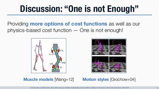 [CHI 2018] OptiMo: Optimization-Guided Motion Editing for Keyframe Character Animation