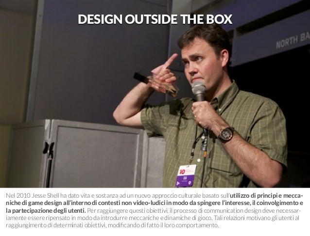 Nel 2010 Jesse Shell ha dato vita e sostanza ad un nuovo approccio culturale basato sull'utilizzo di principi e mecca-nich...