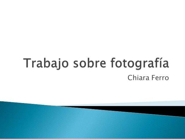 Chiara Ferro