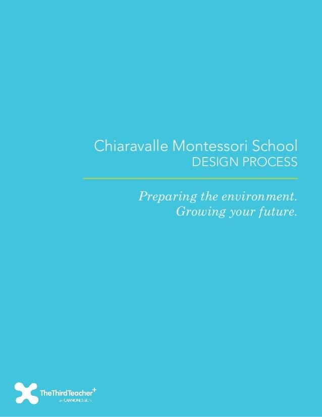 Chiaravalle Montessori School              DESIGN PROCESS      Preparing the environment.            Growing your future.