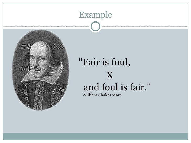 the theme of fair is foul and foul is fair in macbeth by william shakespeare