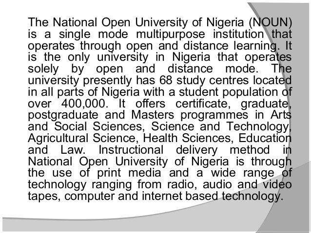 Distance education in Nigeria